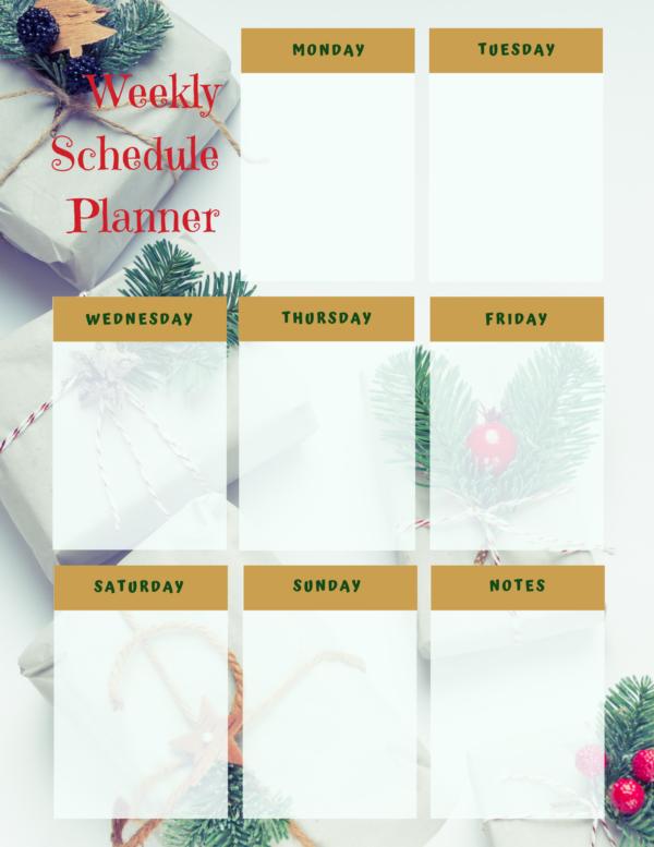 Weekly Planner - Christmas